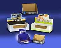 Specialty Corrugated Countertop Single Item Display Tray