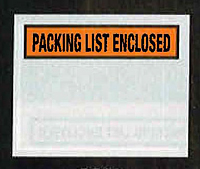 Packing list Enclosed - Orange Background