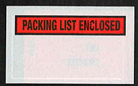 Packing List Enclosed - Red Background