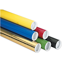 colored mail tubes